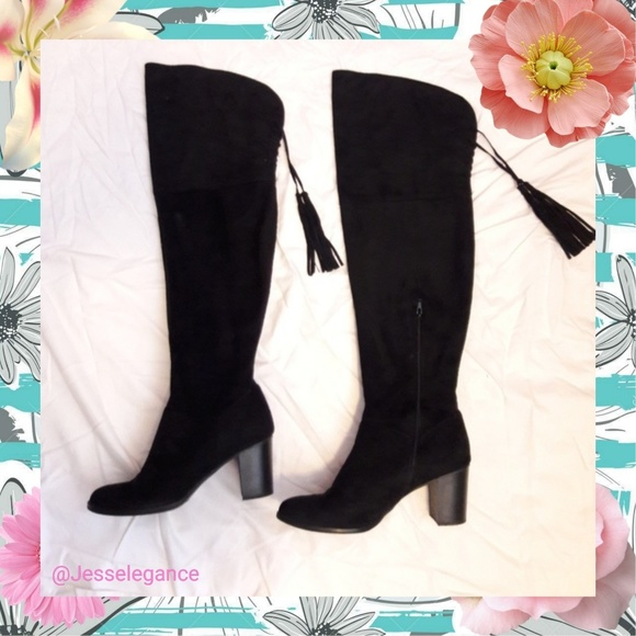 77539807fe6 Lane Bryant Shoes - LANE BRYANT Over-the-Knee High Heel Boots Size 10